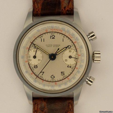 ulysse nardin chronograph vintage vendre pour par un trusted seller sur chrono24. Black Bedroom Furniture Sets. Home Design Ideas