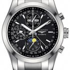 Longines Conquest Classic Chronograph Moonphase 42mm Mens Watch