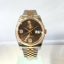 Rolex Datejust 36 mm Edelstahl Roségold Ref. 116201 Schoko D