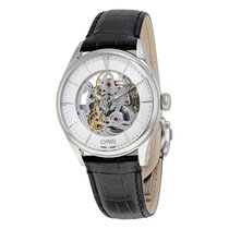 Oris Artelier Silver Skeleton Dial Automatic Men's Watch