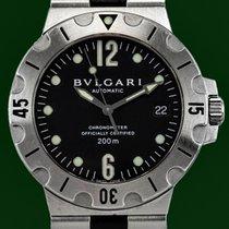 Bulgari Diagono 38mm Scuba 200m  Automatic Date Black Dial