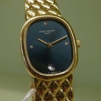 Patek Philippe vintage elipse lady gold 18ct blue dial ref...