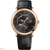 Audemars Piguet Jules Audemars 18k Rose Gold Automatic Leather...