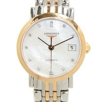 Longines Elegant 18k Rose Gold White Automatic L4.309.5.87.7