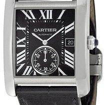 Cartier W5330004 Tank MC Automatic Black Dial Men Black...