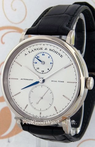 A. Lange &amp;amp; Shne 385.026 Saxonia Dual Time, White Gold