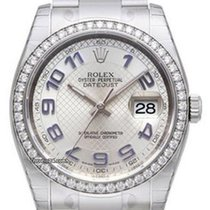 rolex date ref 116234 silber blau arabisch zb oysterband for 6 702 for sale from a trusted. Black Bedroom Furniture Sets. Home Design Ideas
