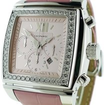 """Chopard """"Two O Ten"""" Chronograph 18k White Gold Diamond"""