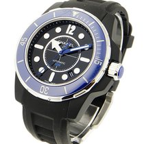Chanel Black J12 Marine H2559 42mm in Ceramic with Blue Bezel