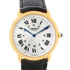 Cartier Ronde Louis Privee 18k Yellow Gold Mechanical Mens Watch