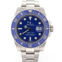 Rolex Submariner Date White Gold Blue Ceramic Bezel 40MM 116619