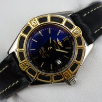 Breitling Lady J Damenuhr - Stahl - Goldlünette - D52065