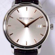 Raymond Weil Toccata Stahl Quartz Klassiker Date Silver Dial...