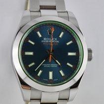 Rolex Milgauss Grün/Blau 116400GV  LC200 Bj.11.2015