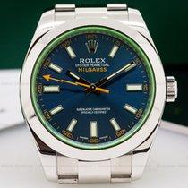 Rolex 116400GV Milgauss Blue Dial Green Crystal (25658)