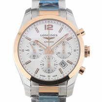 Longines Conquest Classic 41 Chronograph Silver Dial