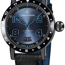 Chronoswiss Timemaster 150 Automatic Black PVD Mens Strap...