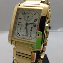 Cartier Tank Francaise Chronoflex Yellow Gold