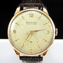 Edox De Luxe Vintage 18K Solid Rose Gold Swiss Wristwatch