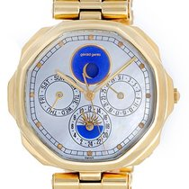 Gérald Genta Maxi Time Quartz Calendar Moonphase 18k Yellow...