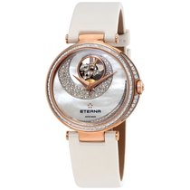 Eterna Grace Open Art Automatic Mother of Pearl Diamond Ladies...