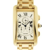 Cartier Gold Tank Americaine Chronograph