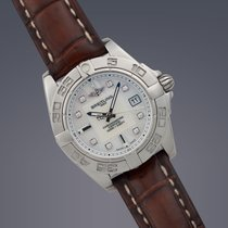 Breitling Ladies Galactic 32 steel & diamond dial quartz...