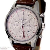 Breitling Transocean Chronograph GMT Ref-AB045112 Stainless...