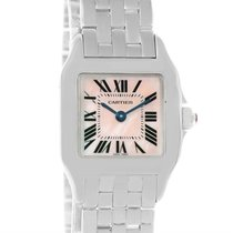 Cartier Santos Demoiselle Mother Of Pearl Watch W25075z5 Box...