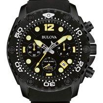 Bulova Mens Sea King UHF Chronograph Dive Watch - Black &...