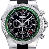 Breitling Bentley GMT Black Dial Black Rubber Men's Watch...