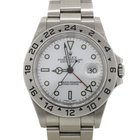 Rolex Explorer II Stainless Steel White Dial U Series GMT Watch