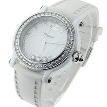 Chopard Happy Sport in White Ceramic with Diamond Bezel