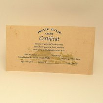 Franck Muller Certificate Zertifikat Warranty