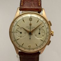 Universal Genève Chronograph Vintage Gold 18K 37,5mm. Serviced