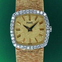 Piaget Lady Square18k Gold 36 Factory 1.2 Carat Diamonds B&P