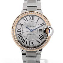 Cartier Ballon Bleu 33 Steel Gold Bezel Automatic