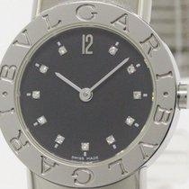 Bulgari Polished  Tubogas Diamond Steel Quartz Ladies Watch...