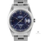 Rolex Datejust Stainless Steel Blue Stick Dial Fluted Bezel...