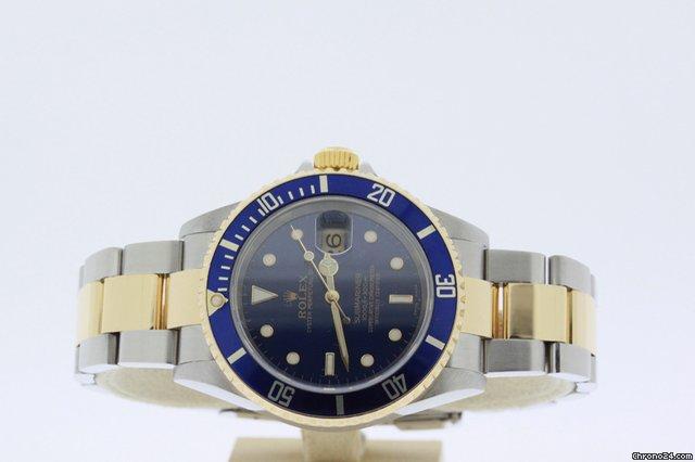 Rolex SUBMARINER BICOLOR BLUE 16613
