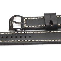 Panerai Lederarmband Strap 24mm Black Handmade original