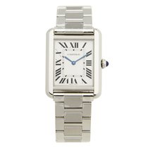 Cartier Tank Stainless Steel Silvery White Quartz W5200013