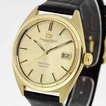 IWC Yacht Club Vintage Men's Watch solid 18K Yellow Gold...