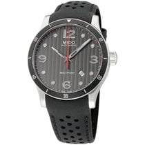 Mido Multifort Grey Dial Leather Strap Automatic Men's...