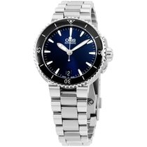 Oris Aquis Automatic Blue Dial Stainless Steel Ladies Watch...