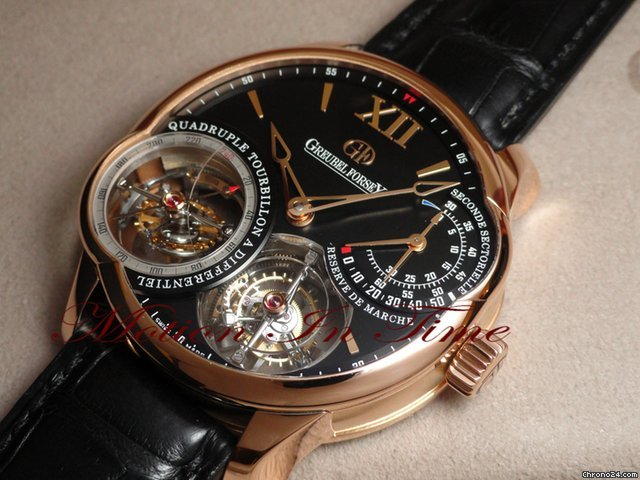 Greubel Forsey QUADRUPLE TOURBILLON ROSE GOLD BLACK DIAL - RARE