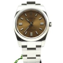 Rolex Oyster Perpetual steel automatic white grape dial