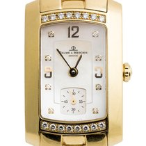 Baume & Mercier Diamond Hampton Milleis 18k Yellow Gold...