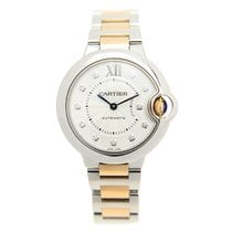 Cartier Ballon Bleu Stainless Steel Silvery White Automatic...