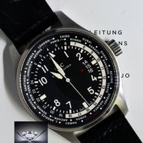 IWC 3262 WorldTime Pilots Watch Steel Automatic Box &...